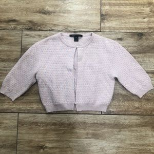 Marc Jacobs Pink Wool Cardigan Cropped Pearl Sz M